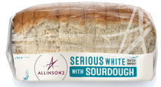 Serious White with Sourdough with Rare Roast Beef and Vegetable Chips